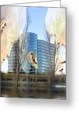 Corporate Cloning Greeting Card by Kurt Van Wagner