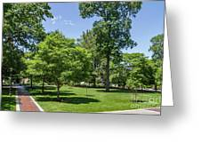 Corr Hall Green Space Greeting Card