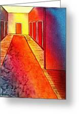 Corridor Of Dreams Greeting Card