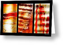 Corrugated Iron Triptych #4 Greeting Card