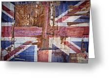 Corrugated Iron United Kingdom Flag Greeting Card
