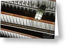 Corrugated Metal Abstract 10 Greeting Card