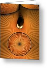 Corrugations In Orange Greeting Card