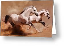 Corsa Di Cavalli Greeting Card