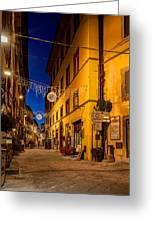 Cortona Via Nazionale Greeting Card