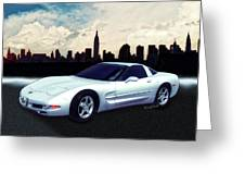 Corvette C-5 1997-2004 Greeting Card