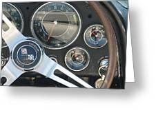 Corvette Dash Greeting Card