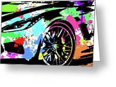 Corvette Pop Art 3 Greeting Card