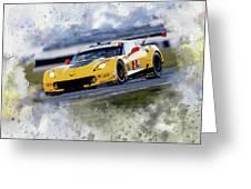 Corvette Racing Greeting Card