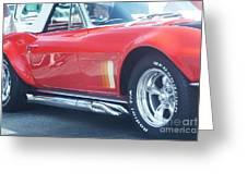 Corvette Soft Top Greeting Card