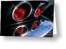 Corvette Tail Lights Greeting Card