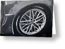 Corvette Wheel Greeting Card