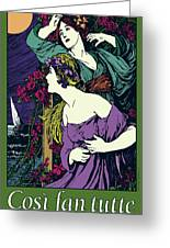 Cosi Fan Tutte Opera Greeting Card