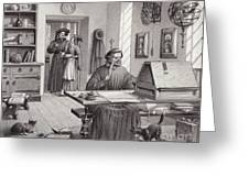 Cosimo Medici Sitting In His Home In Florence Greeting Card