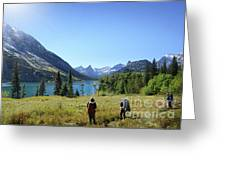 Cosley Ridge Over Cosley Lake - Glacier National Park Greeting Card