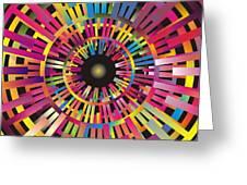 Cosmic Calibrator Greeting Card