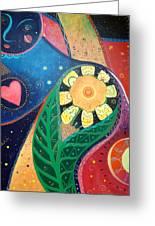 Cosmic Carnival II Aka Duality Greeting Card