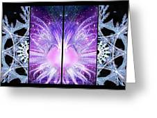 Cosmic Collage Mosaic Left Mirrored Greeting Card