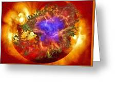 Cosmic Collision Greeting Card