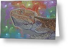 Cosmic Dragon Greeting Card