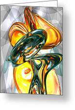 Cosmic Flame Abstract Greeting Card