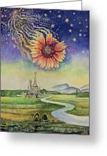 Cosmic Flower Greeting Card