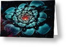 Cosmic Flower Greeting Card
