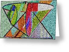 Cosmic Lifeways Mosaic Greeting Card