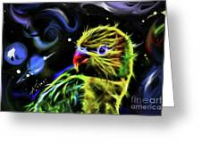 Cosmic Parrot  Greeting Card