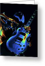 Cosmic Rock Guitar Greeting Card