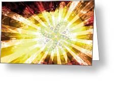 Cosmic Solar Flower Fern Flare 2 Greeting Card