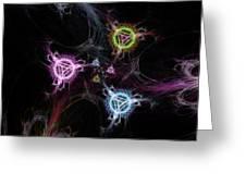 Cosmic Symbols Greeting Card