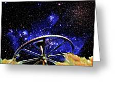 Cosmic Wheel Greeting Card