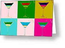 Cosmopolitan Pop Art Panels Greeting Card