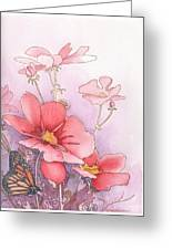 Cosmos And Monarch Greeting Card