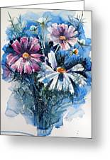 Cosmos Flowers Greeting Card