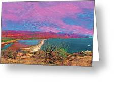 cosome bay Baja Mexico Greeting Card
