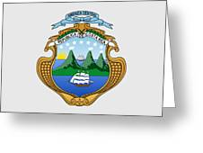Costa Rica Coat Of Arms Greeting Card