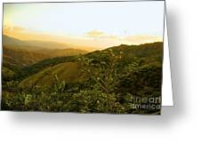 Costa Rica Rolling Hills 2 Greeting Card