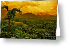 Costa Rica Volcano Greeting Card