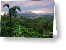 Costa Rica Volcano View Greeting Card