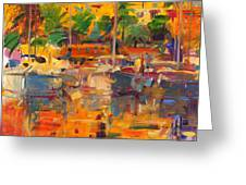 Cote D'azur Reflections Greeting Card