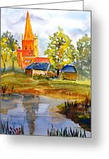 Cotswolds England Church Greeting Card