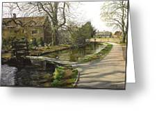 Cotswolds Scene. Greeting Card