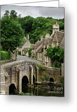 Cotswolds Village Castle Combe Greeting Card