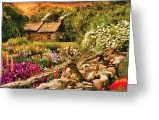 Cottage - There's No Place Like Home Greeting Card