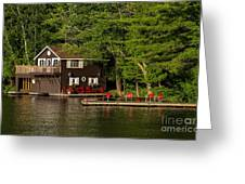 Cottage And Boathouse Photograph By Les Palenik