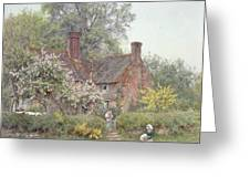Cottage At Chiddingfold Greeting Card