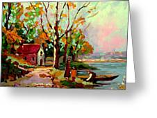 Cottage Country The Eastern Townships A Romantic Summer Landscape Greeting Card