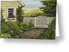 Cottage Garden Beach Getaway Greeting Card